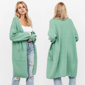Long vest green