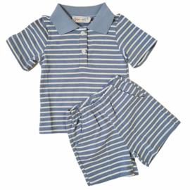 Blue little stripes set
