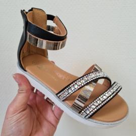 Shine a light sandals - Black