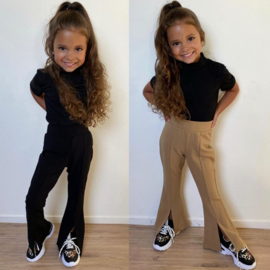 Split flair pants