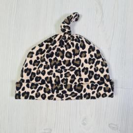 Leopard baby beanie