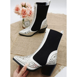 White studded boots (ladies)