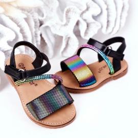 Black ultimate rainbow sandals