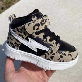 Leopard lightning sneaker
