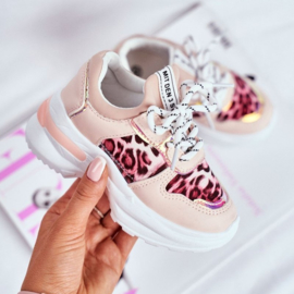 Pink Leopard sneakers