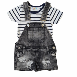 Black dungaree set
