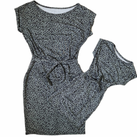 Green dotted dress - Mommy & me