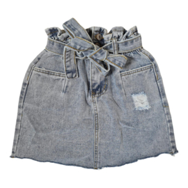 Blue denim skirt
