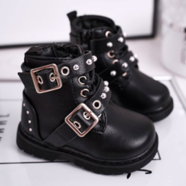 Mini buckle up boots