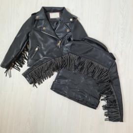 Black Fringe & Leather jacket