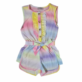 Colored in ruffles playsuit