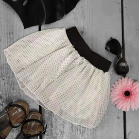 Dotted tutu - white