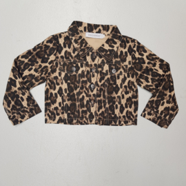 Short leopard jacket