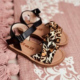 Leopard & Black sandals