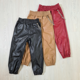 Chained leatherlook pants