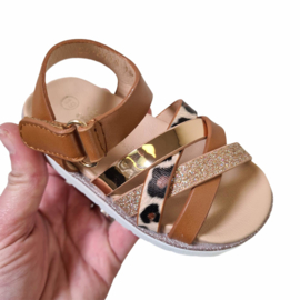A little bit of everything camel sandals