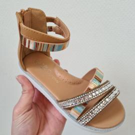 Shine a light sandals - Camel