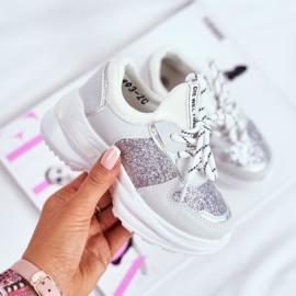 Glittery white sneakers