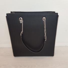 Basic black studded bag - mommy