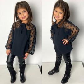 Black dots blouse
