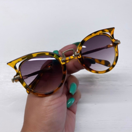 Leopard cat sunglasses - kids