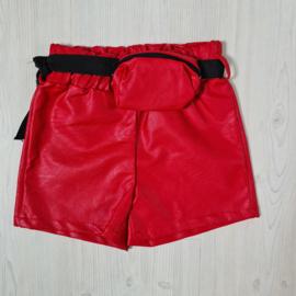 Red short & Belted bag
