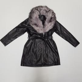 Leather & Furry Jacket