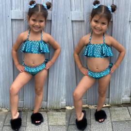 Blue mermaid bikini