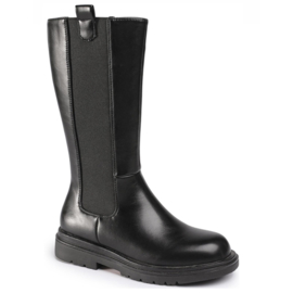 High black chelsea boots