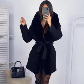Black some fur jacket