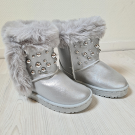 Pearls silver winterboots