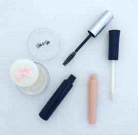 Lipgloss, mascara & poeder set