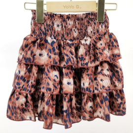 Marron leopard skirt