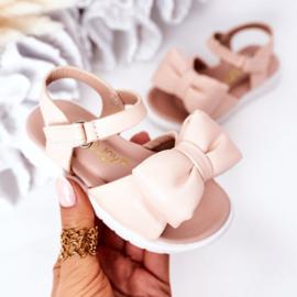 Big bow sandal - pink