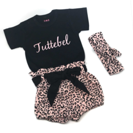 Pink Tuttebel & Pink leopard bloomer set