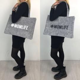Grey #Momlife bag