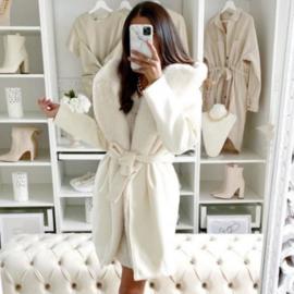 White some fur jacket