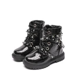Studded croco boots