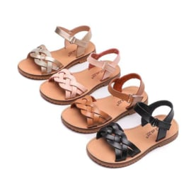 4 colors braided sandals