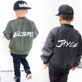 Black or green bomber (gepersonaliseerd)