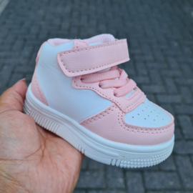 High baby sneakers - pink
