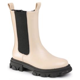 Beige chelsea boots
