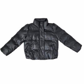 Leather bubbly jacket
