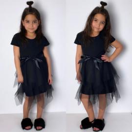Black tule & a bow dress