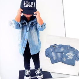 Lichtblauw distressed denim (Gepersonaliseerd)