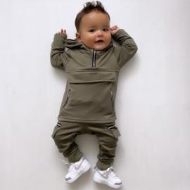 Baby green Pocket & Zipped set