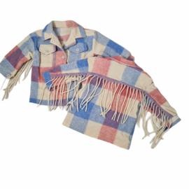 Blocked Fringe blouse jacket - Rood
