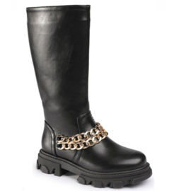 Gold chain boots