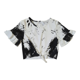 Splatter knotted top