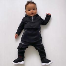 Baby black Pocket & Zipped set
